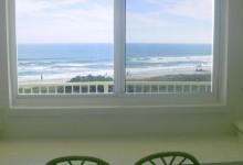 Breakfast bar overlooking the sea